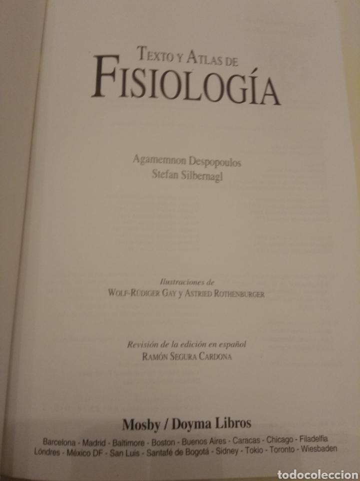 Libros de segunda mano: TEXTO Y ATLAS DE FISIOLOGÍA AGAMEMNON DESPOPOULOS STEFAN SILBERNAGL MOSBY DOYMA LIBROS 1996 - Foto 4 - 149544740