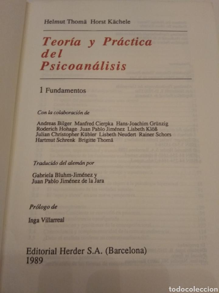 Libros de segunda mano: TEORIA Y PRACTICA DEL PSICOANÁLISIS I. FUNDAMENTOS HELMUT THOMA HORST KACHELE HERDER 1989 - Foto 5 - 149545105