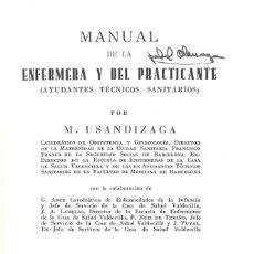 Libros de segunda mano: MANUAL DE LA ENFERMERA Y DEL PRACTICANTE. MANUEL USANDIZAGA. 1970. Lote 149661766