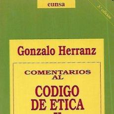 Livros em segunda mão: COMENTARIOS AL CÓDIGO DE ÉTICA Y DEONTOLOGÍA MÉDICA. Lote 149662746