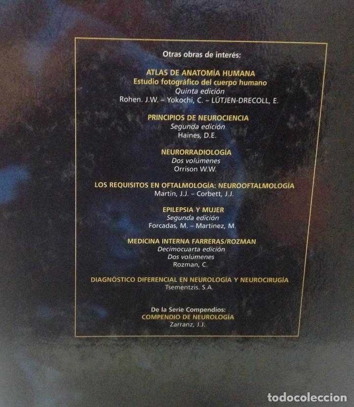 Libros de segunda mano: NEUROLOGIA, JUAN. J. ZARRANZ, EDITORIAL ELSEIVER, 2004, 21X29cm 974 PAGINAS - Foto 2 - 149841538