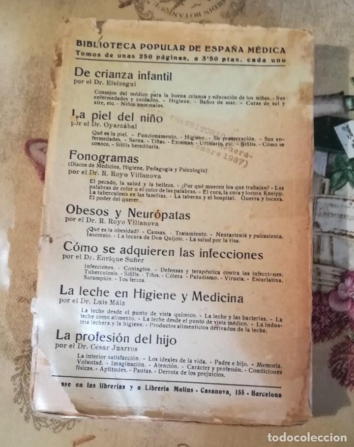 Libros de segunda mano: La leche en higiene y medicina - Dr. Luis Máiz - Biblioteca popular de España Médica vol. VII - S/F - Foto 2 - 150213098