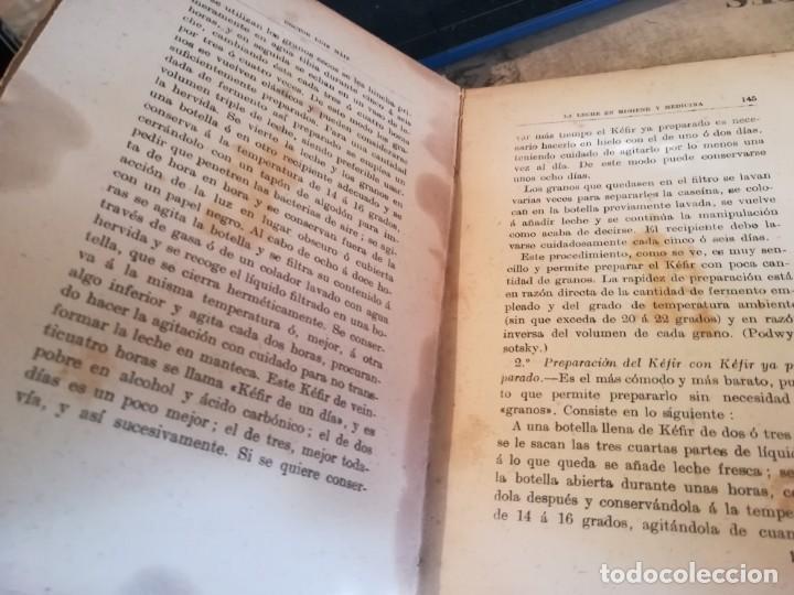 Libros de segunda mano: La leche en higiene y medicina - Dr. Luis Máiz - Biblioteca popular de España Médica vol. VII - S/F - Foto 13 - 150213098