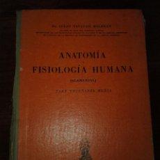 Libros de segunda mano: ANATOMÍA Y FISIOLOGÍA HUMANA. JULIO NAVARRO MALBRAN.. Lote 150486533