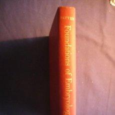 Libros de segunda mano: BRADLEY PATTEN: - FOUNDATIONS OF EMBRIOLOGY - (NEW YORK, 1958) (MEDICINA). Lote 150737290