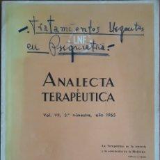 Libros de segunda mano: ANALECTA TERAPÉUTICA N°285 DE 1965. Lote 150953540