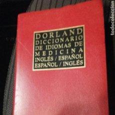 Libri di seconda mano: DICCIONARIO DORLAND DE IDIOMAS DE MEDICINA (INGLES/ESPAÑOL-ESPAÑOL/INGLES) SAUNDERS 2005 ELSEVIER. Lote 151309890