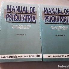 Libros de segunda mano: MANUAL DE PSIQUIATRIA (2 VOL.), DEE JOSE LUIS AYUSO Y LUIS SALVADOR. MCGRAW HILL-INTERAMERICANA.. Lote 136305510