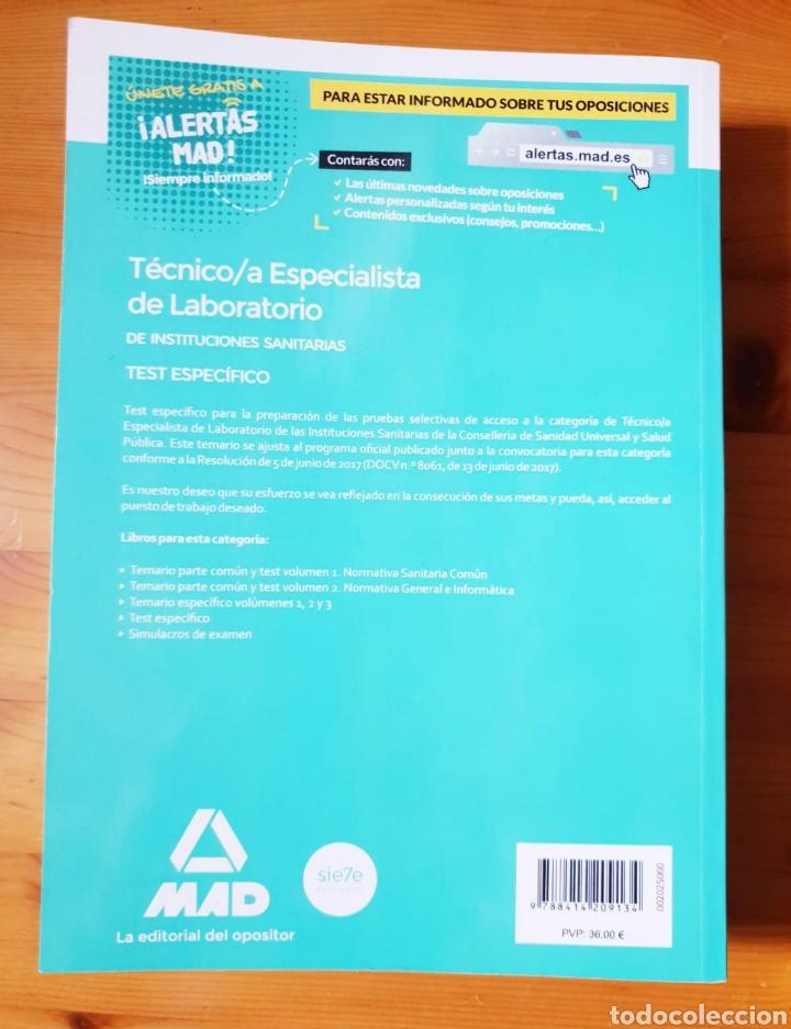 Libros de segunda mano: LIBRO TECNICO/A ESPECIALISTA DE LABORATORIO DE INSTRUCCIONES SANITARIAS - Ediciones Más, 2017 - 638p - Foto 2 - 152159594