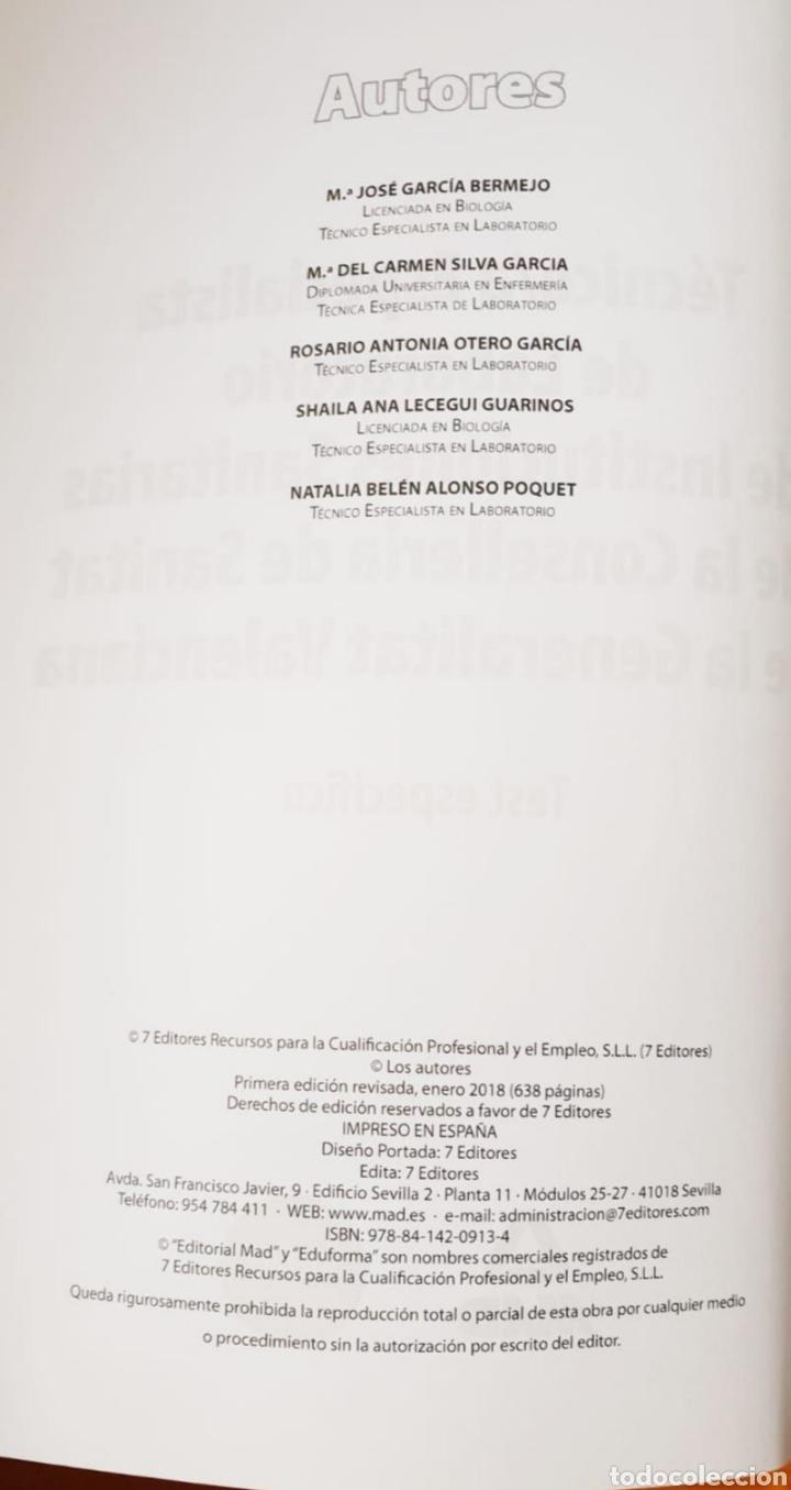 Libros de segunda mano: LIBRO TECNICO/A ESPECIALISTA DE LABORATORIO DE INSTRUCCIONES SANITARIAS - Ediciones Más, 2017 - 638p - Foto 3 - 152159594