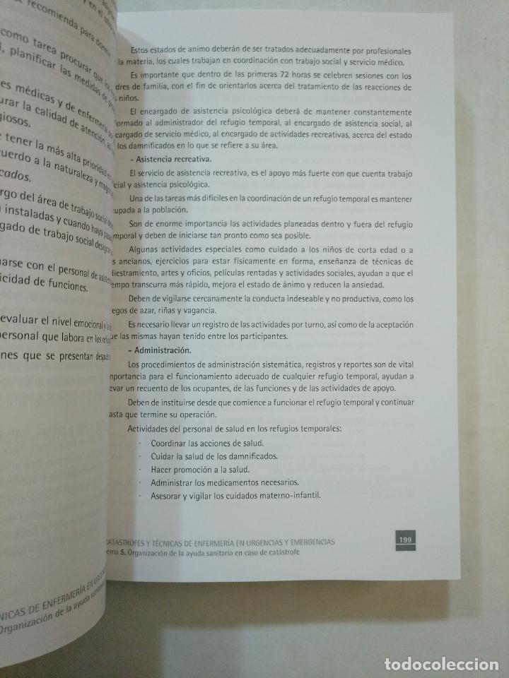 Libros de segunda mano: CATÁSTROFES Y TÉCNICAS DE ENFERMERÍA EN URGENCIAS Y EMERGENCIAS. FORMACIÓN CONTINUADA LOGOSS TDK371 - Foto 3 - 152727134
