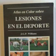 Libros de segunda mano: ATLAS EN COLOR SOBRE LESIONES EN EL DEPORTE. Lote 153566518