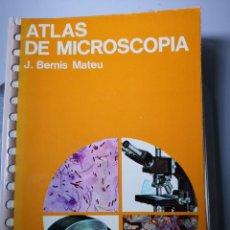 Libros de segunda mano: ATLAS DE MICROSCOPIA -J.BERNÍS MATEU EDICIONES JOVER-LIBRO SOBRE MICROSCOPIO. Lote 154245562