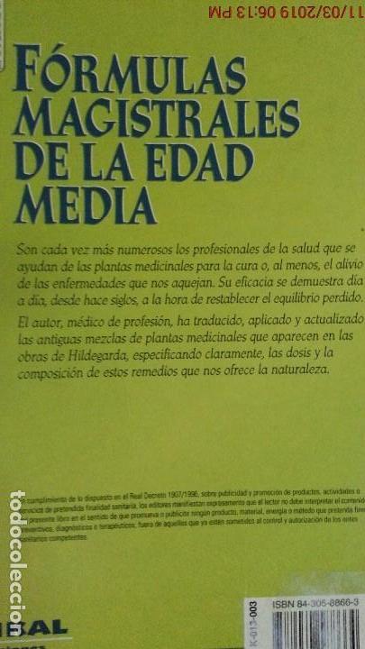 Libros de segunda mano: LA MEDICINA MEDIEVAL ACTUALIZADA - DR. REINHARD SCHILLER - PATTLOCH VERLAG - TIKAL ED. - Foto 9 - 154978006