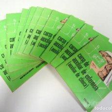 Libros de segunda mano: CURSO DE AUXILIAR DE ENFERMERÍA. 10 GRUPOS + 4 ESPECIALIDADES.. Lote 155143066