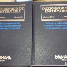 Libros de segunda mano: DICCIONARIO DE ENFERMERÍA - J. QUEVAUVILLIERS, L. PERLEMUTER. Lote 155277078