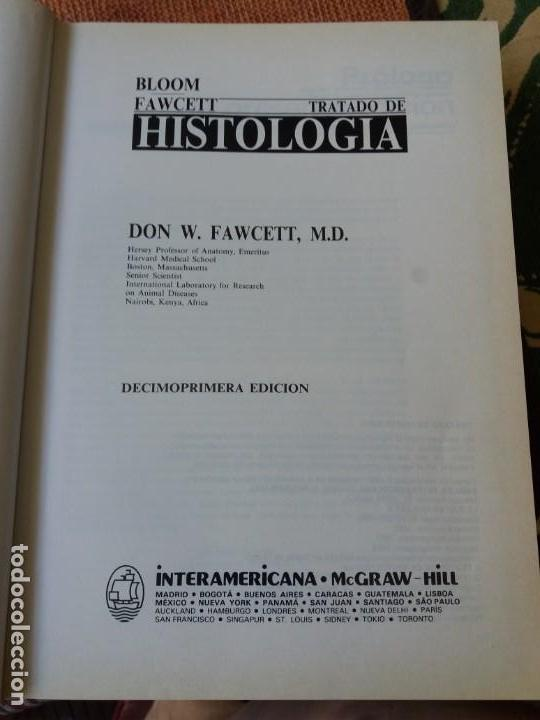 Libros de segunda mano: LIBRO. TRATADO DE HISTOLOGIA, D. W. FAWCET. ESTÁ IMPECABLE. - Foto 2 - 155794482