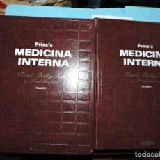 Libros de segunda mano: PRICE'S MEDICINA INTERNA VOL. I Y II. SIR RONALD BODLEY SCOTT. ED. ESPAXS. BARCELONA 1982. Lote 156808758