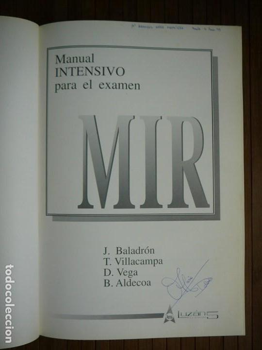 Libros de segunda mano: Manual intensivo para el examen MIR. Tomo II Editorial Luzán 5 1993. Jaime Baladrón Romero y varios. - Foto 11 - 157982774
