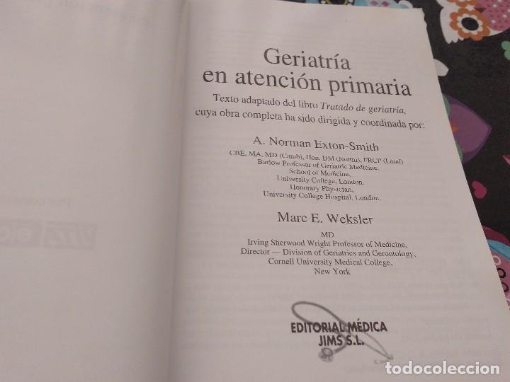 Libros de segunda mano: GERIATRIA EN ATENCION PRIMARIA A.NORMAN EXTON SMITH MARC E. WEKSLER 1ª EDICION 1999 ED. MEDICA - Foto 2 - 158263066