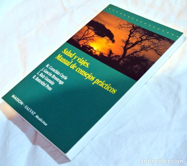 Libros de segunda mano: Libro SALUD Y VIAJES, Manual de consejos prácticos , MASSON-SALVAT Medicina 1993, 19 x 11.9 cms - Foto 2 - 158328738