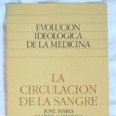Libros de segunda mano: LIBRO EVOLUCION IDEOLOGICA DE LA MEDICINA, LA CIRCULACIÓN DE LA SANGRE, J. MARÍA CALBET CAMARASA. Lote 158329390