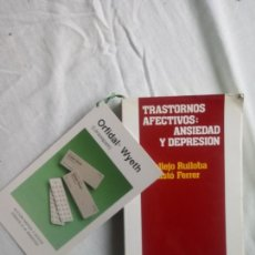 Libros de segunda mano: LIBRO TRASTORNOS AFECTIVOS: ANSIEDAD Y DEPRESION. J. VALLEJO Y C. GASTÓ FERRER. Lote 159195164