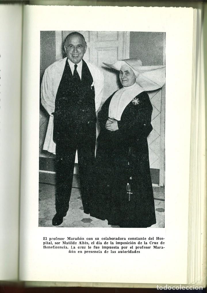 Libros de segunda mano: MARAÑÓN Y SU OBRA EN LA MEDICINA. Vicente Pozuelo Escudero - Foto 3 - 92801535