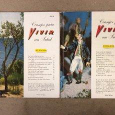Libros de segunda mano: LOTE DE 2 FASCÍCULOS DE CONSEJOS PARA VIVIR EN SALUD. NÚMEROS 2 Y 3 DE 1953.. Lote 159562861