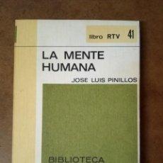 Libros de segunda mano: LIBRO RTV Nº 41 LA MENTE HUMANA (JOSE LUIS PINILLOS) BIBLIOTECA BASICA SALVAT - OFM15. Lote 159830438