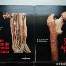 Libros de segunda mano: GRAN ATLAS DE ANATOMÍA HUMANA. CENTRUM. DOS VOLÚMENES. R. M. H. MCMINN Y R. T. HUTCHINGS. Lote 160197458
