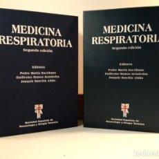 Libros de segunda mano: MEDICINA RESPIRATORIA. EN SU ESTUCHE. INCLUYE CD-ROM. VV.AA. 2005. 2º ED. ACTUALZ. ISBN 8478854010.. Lote 160711498