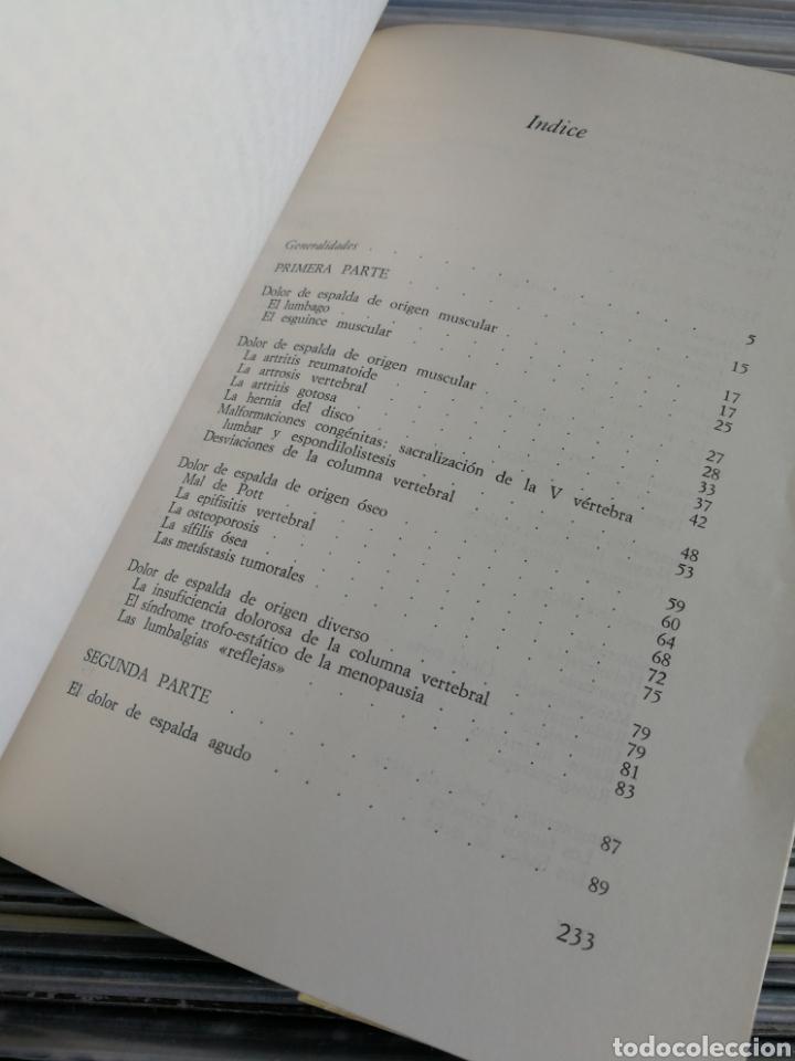 Libros de segunda mano: COMO CURAR Y ELIMINAR EL DOLOR DE ESPALDA- DR.SAPONARO, EDITORIAL DE VECCHI, 1971. - Foto 2 - 162566913