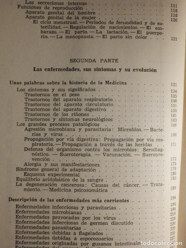Libros de segunda mano: Tu cuerpo y tu salud - F. Goust - Ediciones Daymon - 1958 - Con decenas de láminas - Foto 4 - 162988618