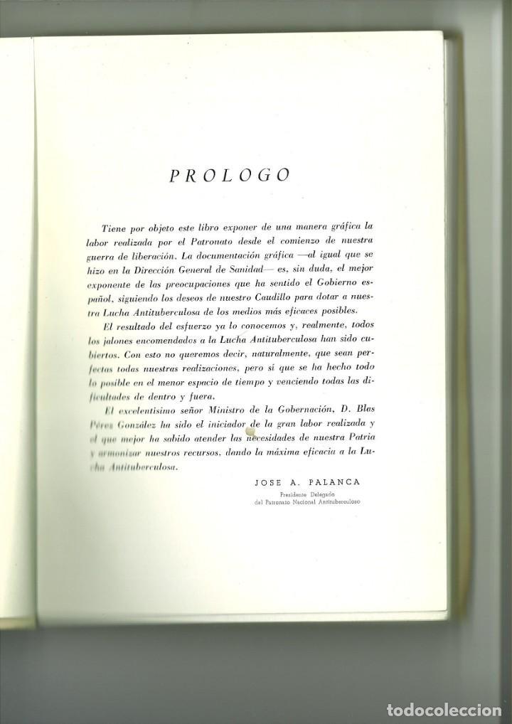 Libros de segunda mano: LABOR DEL PATRONATO NACIONAL ANTITUBERCULOSO DURANTE EL ÚLTIMO DECENIO. - Foto 2 - 163397958