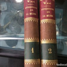 Libros de segunda mano: ENFERMEDADES DE LA MUJER. VOLUMEN 1 Y 2. WEST.1879. Lote 163973310