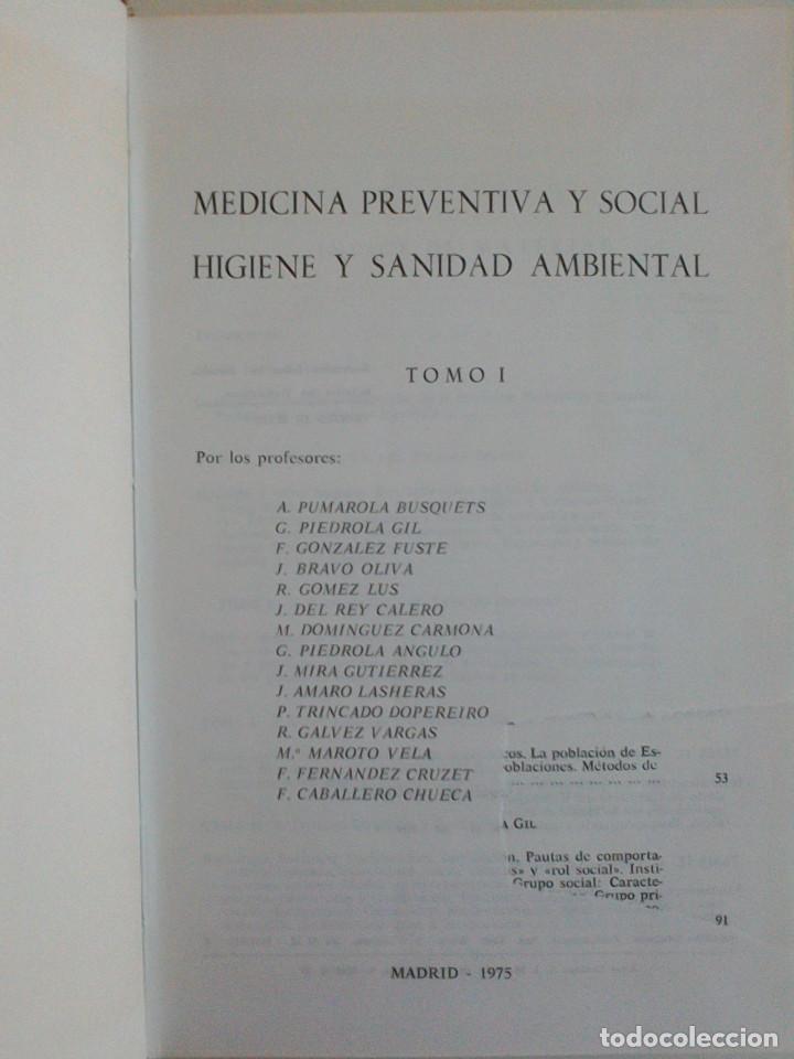 Libros de segunda mano: MEDICINA PREVENTIVA Y SOCIAL.HIGIENE Y SANIDAD AMBIENTAL.TOMO I. G. PIEDROLA GIL, G. PIEDROLA ANGULO - Foto 6 - 165283554