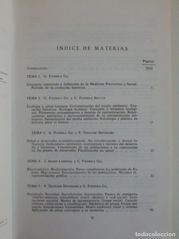 Libros de segunda mano: MEDICINA PREVENTIVA Y SOCIAL.HIGIENE Y SANIDAD AMBIENTAL.TOMO I. G. PIEDROLA GIL, G. PIEDROLA ANGULO - Foto 7 - 165283554