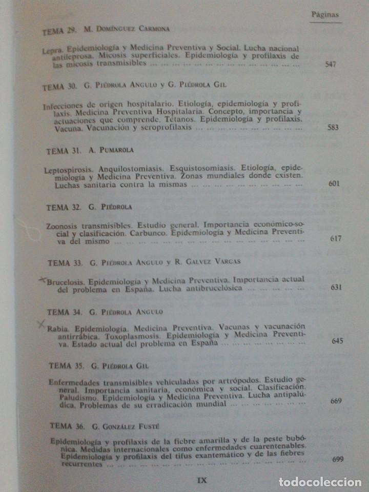 Libros de segunda mano: MEDICINA PREVENTIVA Y SOCIAL.HIGIENE Y SANIDAD AMBIENTAL.TOMO I. G. PIEDROLA GIL, G. PIEDROLA ANGULO - Foto 11 - 165283554