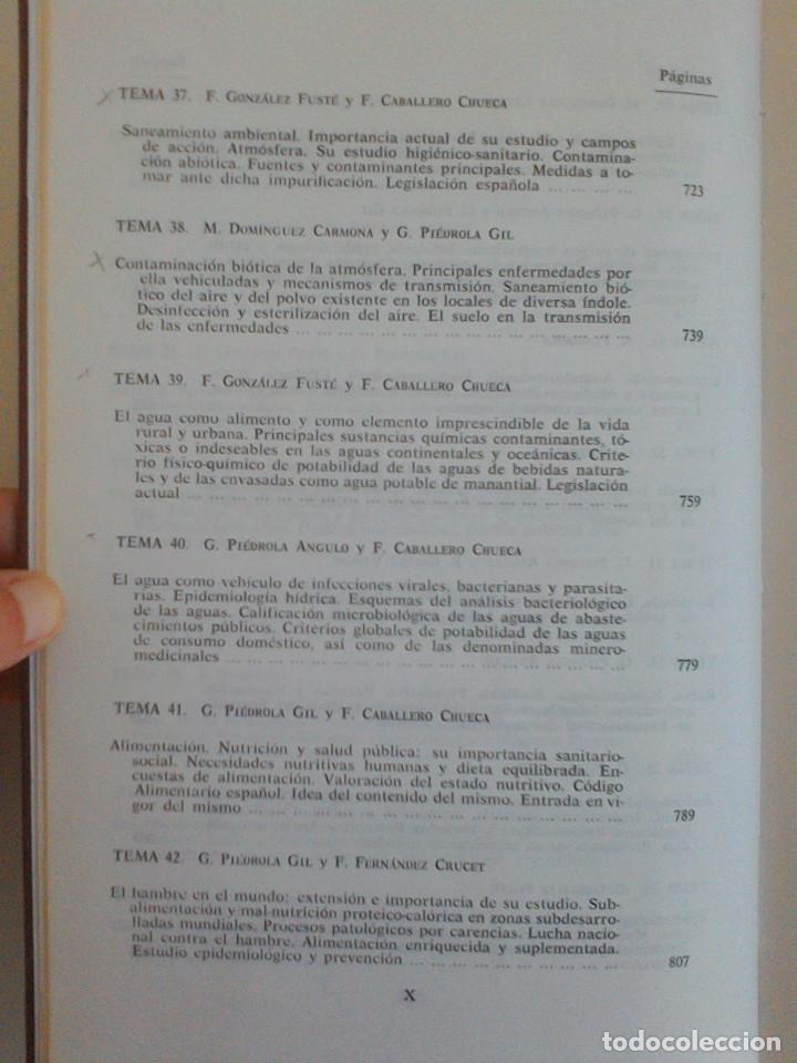 Libros de segunda mano: MEDICINA PREVENTIVA Y SOCIAL.HIGIENE Y SANIDAD AMBIENTAL.TOMO I. G. PIEDROLA GIL, G. PIEDROLA ANGULO - Foto 12 - 165283554