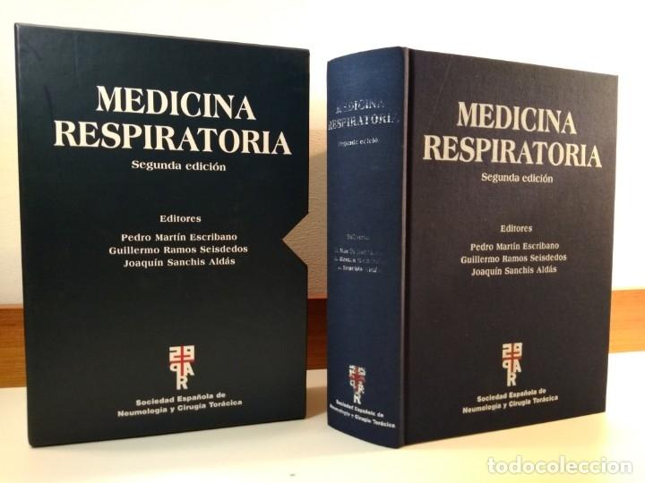 MEDICINA RESPIRATORIA. EN SU ESTUCHE. VV.AA. 2005. 2º ED. ACTUALIZ. ISBN 8478854010 (Libros de Segunda Mano - Ciencias, Manuales y Oficios - Medicina, Farmacia y Salud)