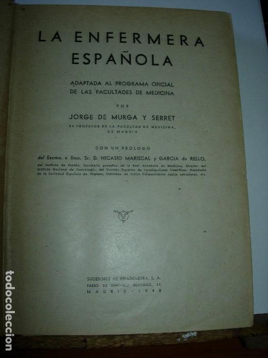 Libros de segunda mano: LA ENFERMERA MODERNA LA ENFERMERA ESPAÑOLA - Foto 5 - 165935098