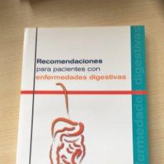 Libros de segunda mano: RECOMENDACIONES PARA PACIENTES CON PROBLEMAS DIGESTIVOS. Lote 166125761
