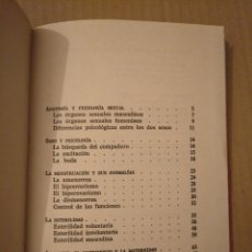 Libros de segunda mano: VIDA SEXUAL MATRIMONIAL. DR A MERONI-APPIANI.DE VECCHI 1962. Lote 166672990