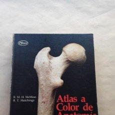 Libros de segunda mano: ATLAS A COLOR ANATOMIA HUMANA,MCMINN Y HUTCHINGS,PFIZER. Lote 166673798
