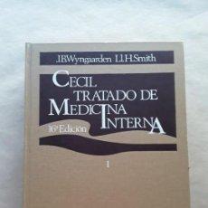 Libros de segunda mano: CECIL TRATADO DE MEDICINA INTERNA,TOMO I,WYNGAARDEN Y SMITH,INTERAMERICANA. Lote 166690986