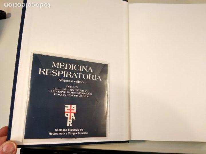 Libros de segunda mano: MEDICINA RESPIRATORIA. En su estuche. Incluye CD-Rom. VV.AA. 2º ed. Actualizada. ISBN 8478854010. - Foto 2 - 167778208