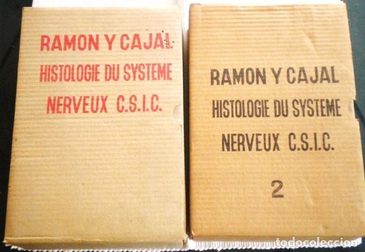 HISTOLOGIE DU SYSTÈME NERVEUX DE L'HOMME ET DES VERTEBRES - RAMÓN Y CAJAL - 1972 EMBALAJE ORIGINAL (Libros de Segunda Mano - Ciencias, Manuales y Oficios - Medicina, Farmacia y Salud)