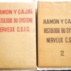 Libros de segunda mano: HISTOLOGIE DU SYSTÈME NERVEUX DE L'HOMME ET DES VERTEBRES - RAMÓN Y CAJAL - 1972 EMBALAJE ORIGINAL. Lote 168312452