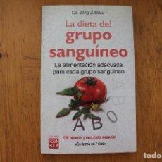 Libros de segunda mano: LA DIETA DEL GRUPO SANGUINEO. Lote 168709964